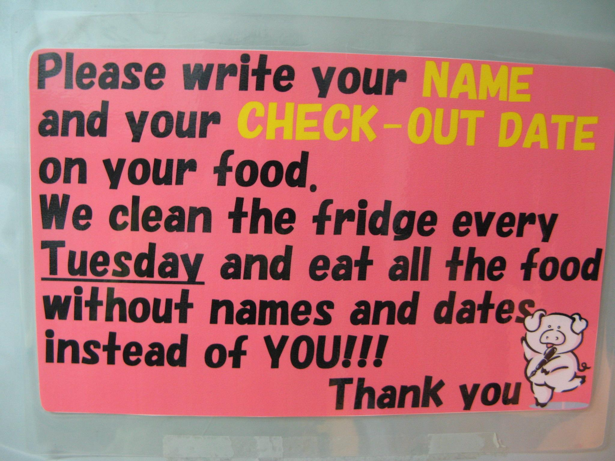 label your food