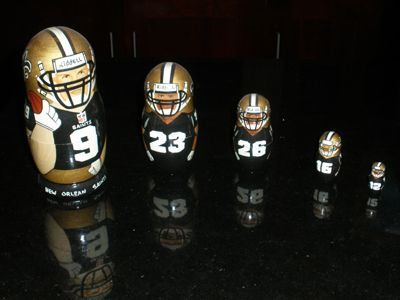 New Orleans Saints Nesting Russian Matryoshka Dolls