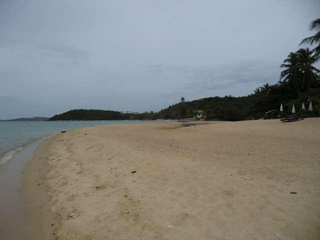 das Ende des Strandes fast erreicht